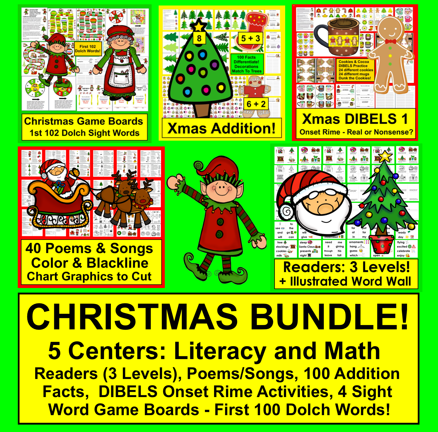Learning Activities For Kids: Christmas For Primary