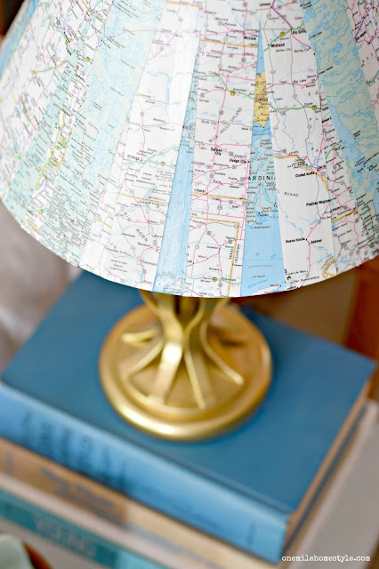 Golden Atlas DIY Lamp Makeover - One Mile Home Style