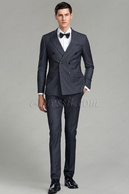 smoky grey custom men suits party tuxedo