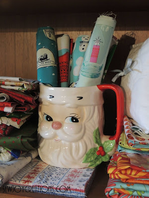 santa cup fabric display