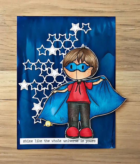 card using superhero boy digital stamp by kindacutebypatricia