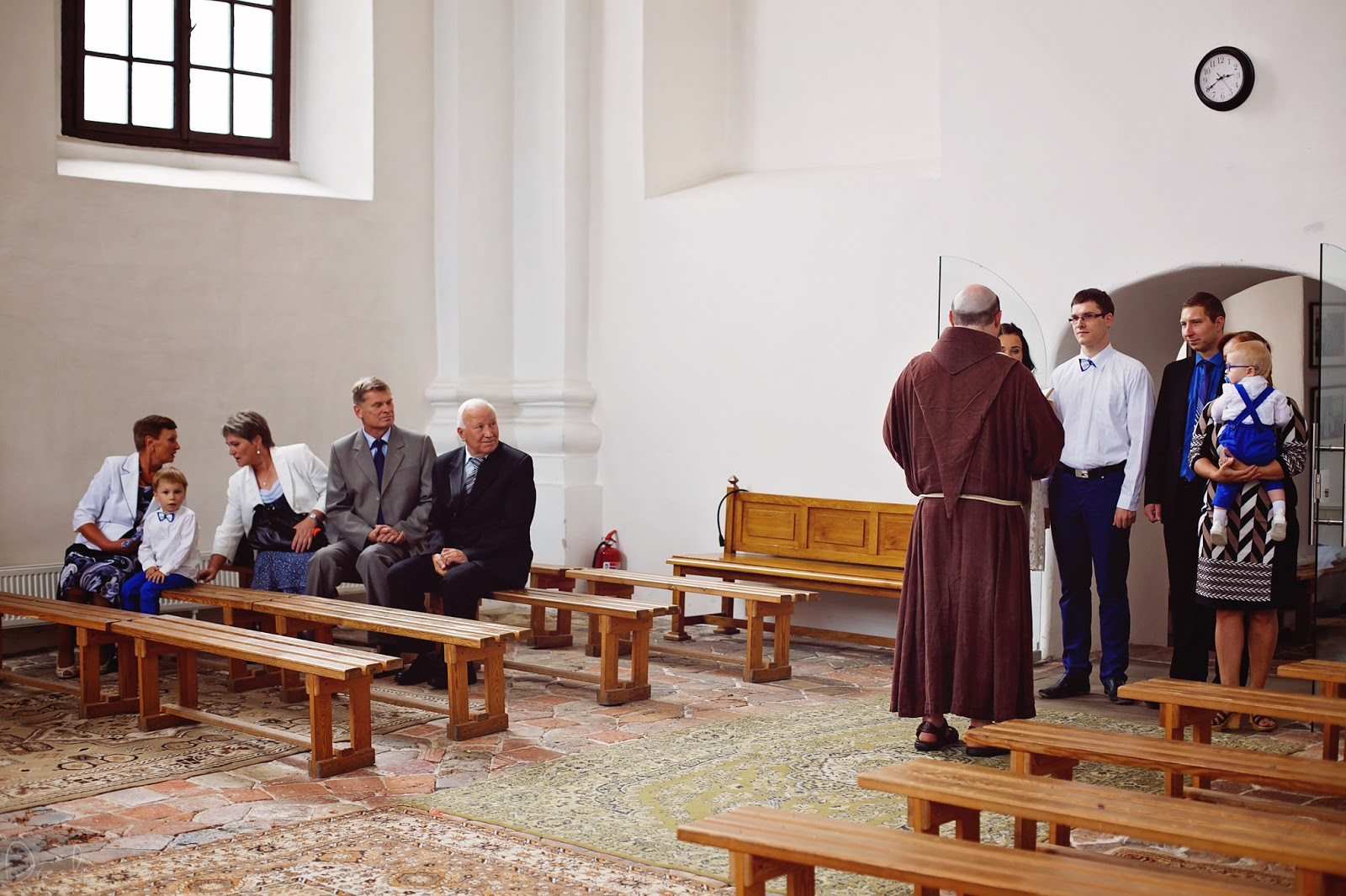 Krikštynų fotosesija Bernardinų bažnyčioje