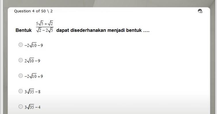 Latihan Soal Online USBN Matematika SMA  Mr Mung dot Com