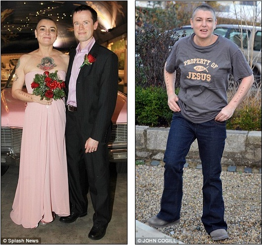 Dailyceleb We Know Marriage Can Change You But Surely Not That Quickly Sinead O Connor Sports Grey Hair And Tired Expression After Glamorous Wedding In Las Veg