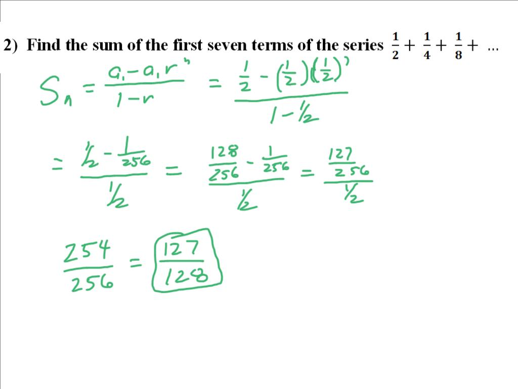 Mr Flanagan S Class Geometric Series Worksheet Solutions