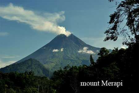 mount merapi - central java