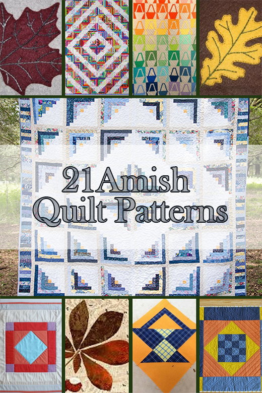 21 Amish Quilt Patterns collected By Krista Childers from FaveQuilts