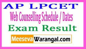 AP LPCET 2017 Web Counselling Schedule / Dates Results