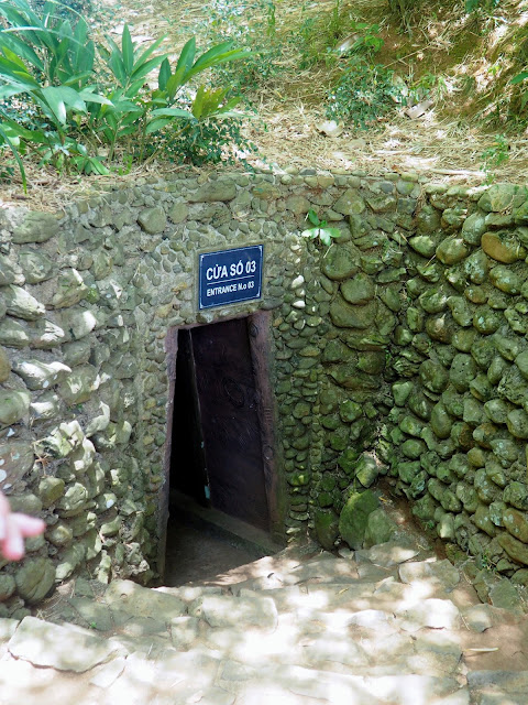 Entrance to the Vinh Moc tunnels, outside Hue, Vietnam