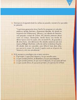Apoyo Primaria Formación Español 3ro. Grado Bloque II Evaluación del Bloque II