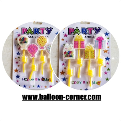 Lilin Ultah Motif HAPPY BIRTHDAY Spiral
