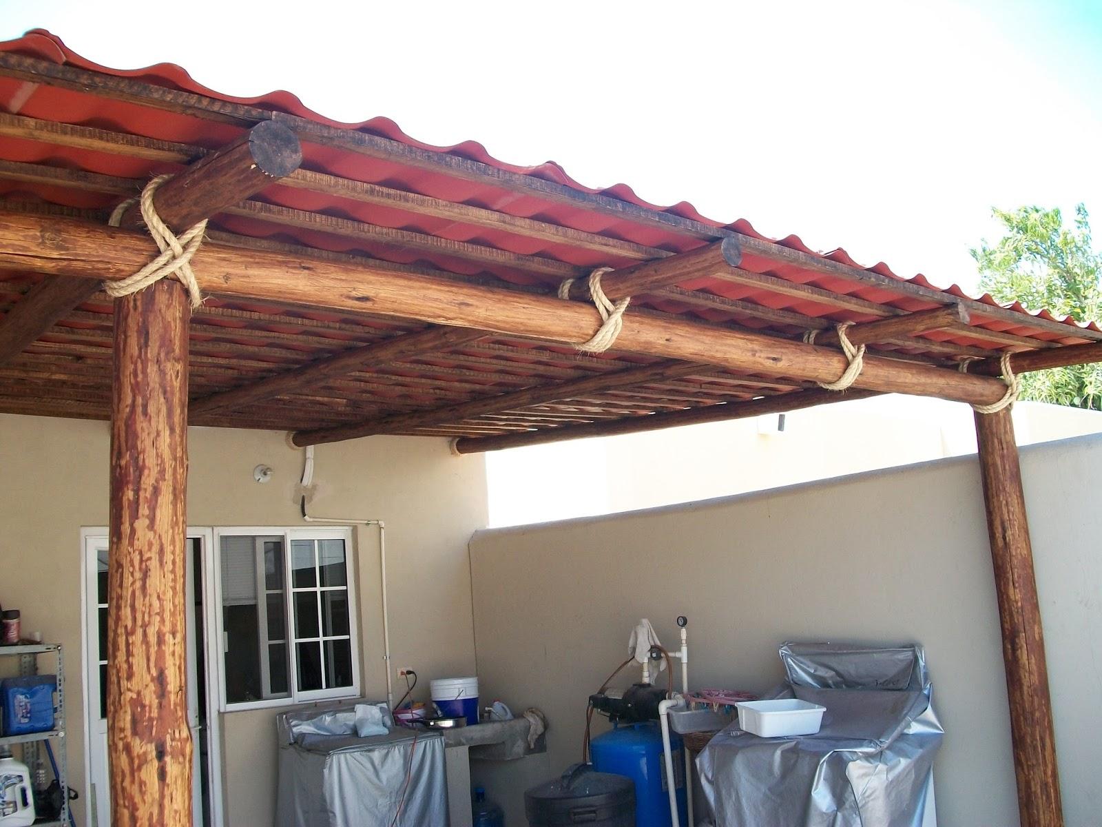 Rey de california tipos de techos rusticos pergolas y palapas - Techos pergolas ...