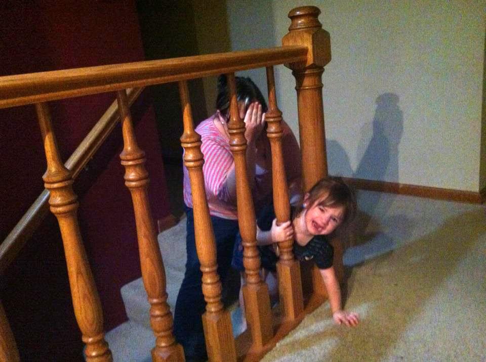 Kids Getting Stuck