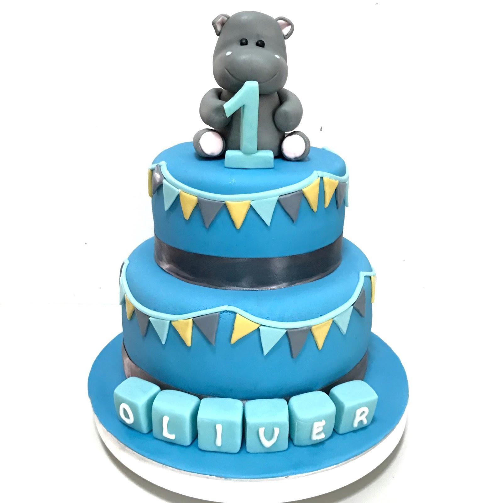 Hippo Cake For Baby Oli Sherbakes