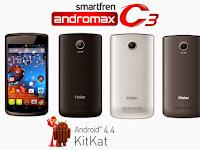 Smartfren Andromax C3, Smartphone Dual Core KitKat Dengan Fitur Lengkap Dan Harga Terjangkau