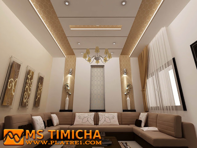 Decor salon pl tre decoration platre plafond for Decoration platre salon