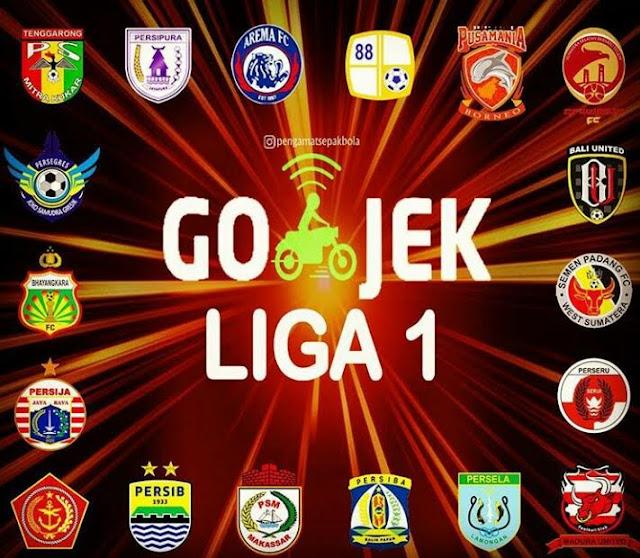 Hasil gambar untuk Go-Jek Resmi Sponsori Sepak Bola Liga 1 Indonesia