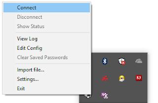 Proses konek openvpn
