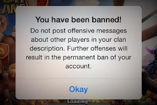 deskripsi banned coc