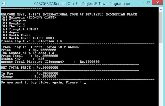 Gambar Output Transaksi Program