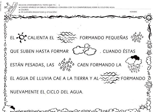 Dibujos Para Colorear Del Ciclo Del Agua Para Ninos: RECURSOS Y ACTIVIDADES PARA