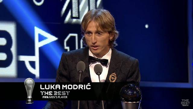 رسميًا لوكا مودريتش أفضل لاعب في العالم 2018
