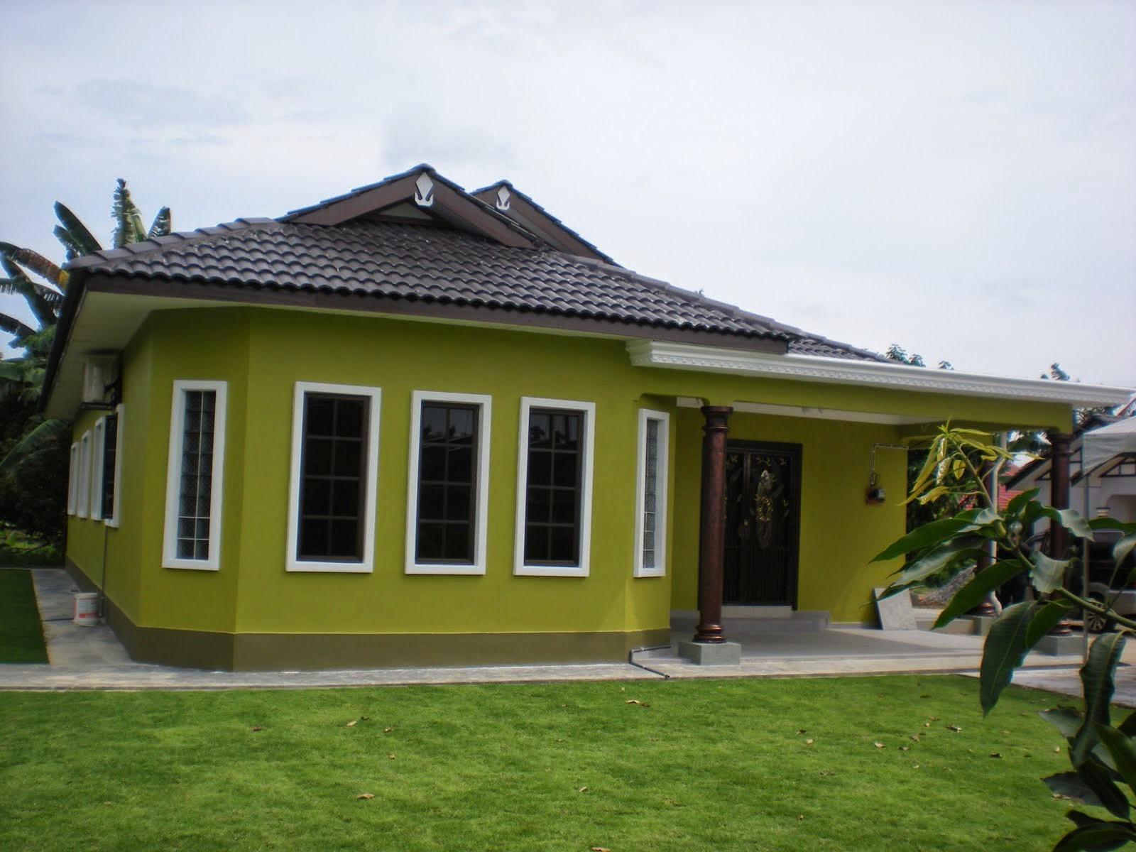 Warna Cat Rumah Hijau Stabilo Desain Rumah
