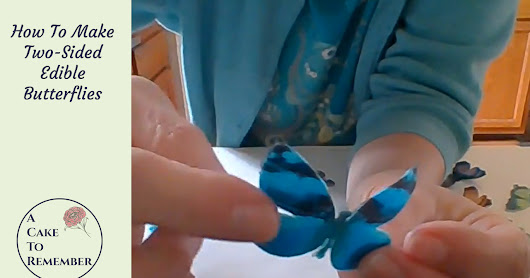 How To Make Two-Sided Wafer Paper Edible Butterflies