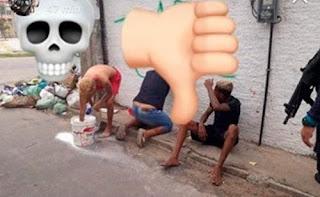 Polícia obriga bandidos a pintar muro onde haviam pichado ameaças em Fortaleza