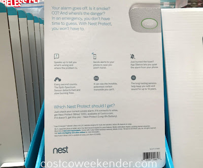Costco 1219886 - Nest Protect Battery Power Smoke and CO Detector: essential for any home