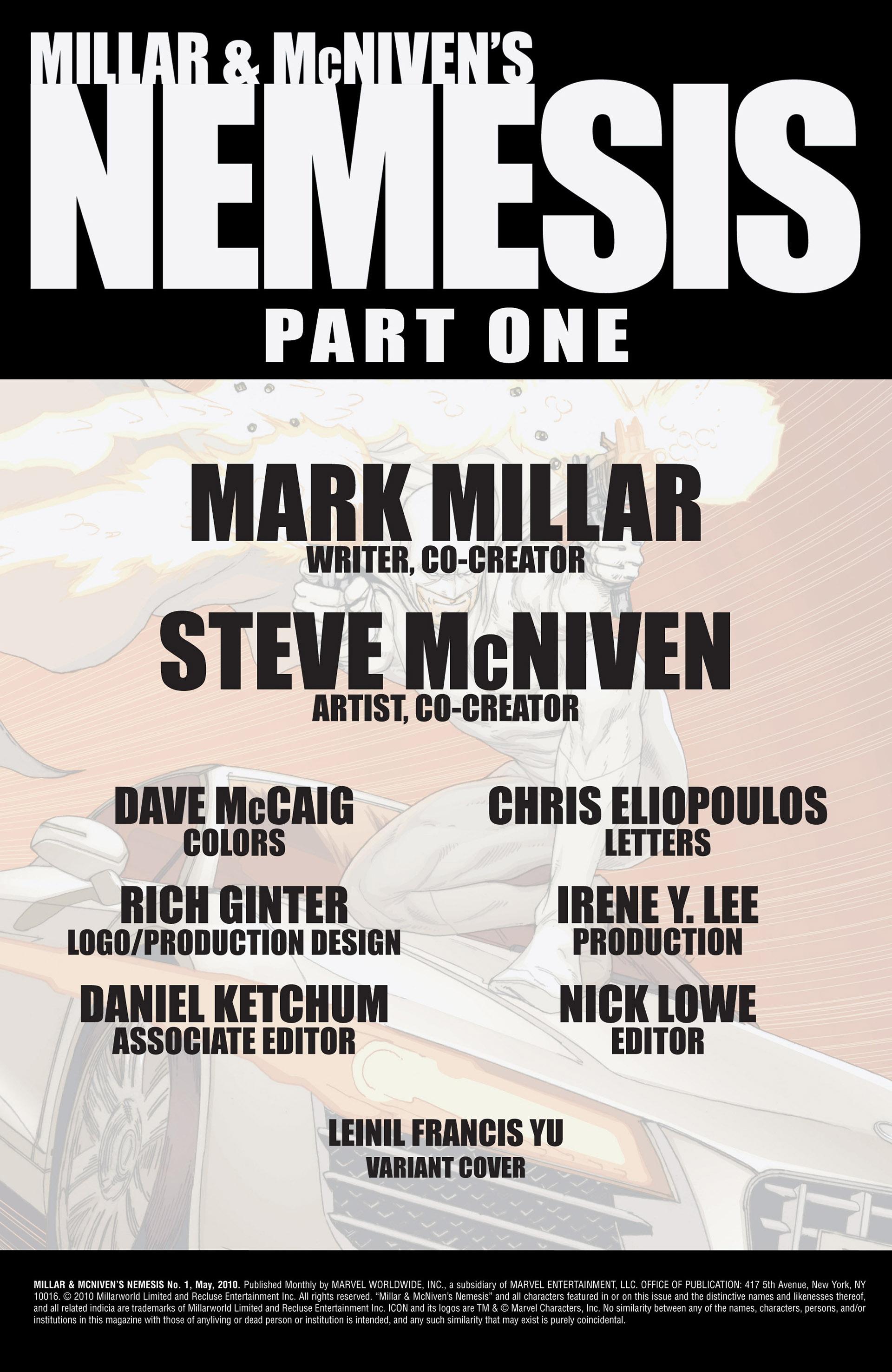 Read online Millar & McNiven's Nemesis comic -  Issue #1 - 2
