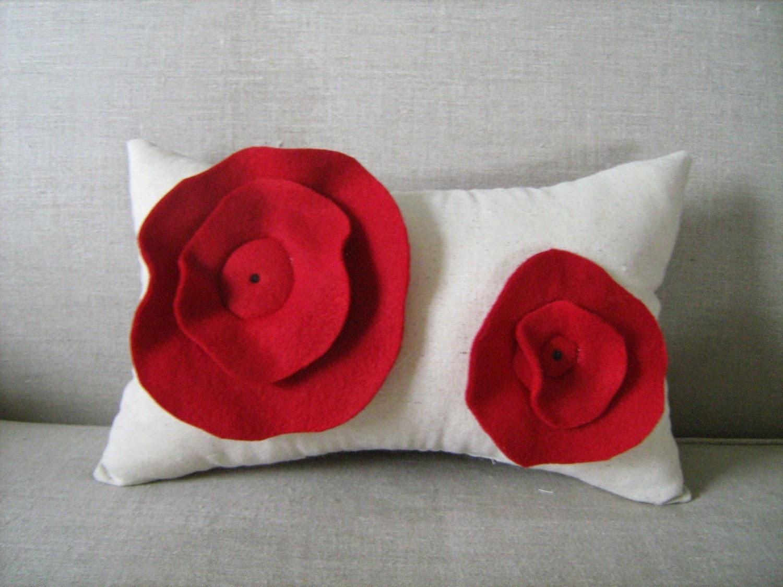 cojines con flores para decorar