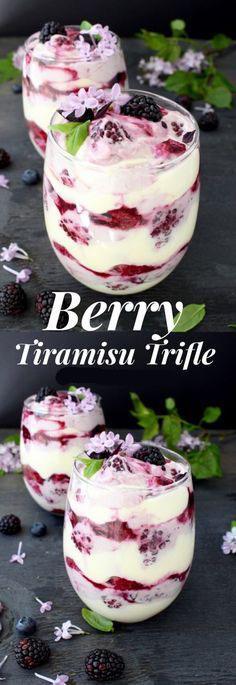 Berry Tiramisu Trifle