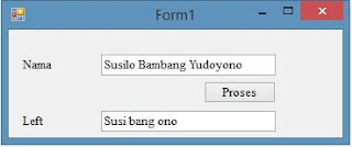 Cara Menggunakan Fungsi Left, Mid dan Right pada VB.Net