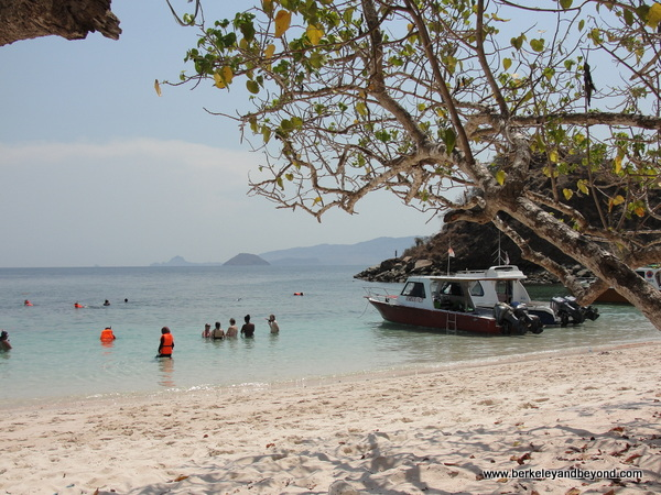 view from Pink Beach near Komodo Island in Indonesia