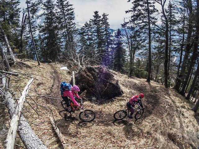 Mountainbiken ohne Schnee