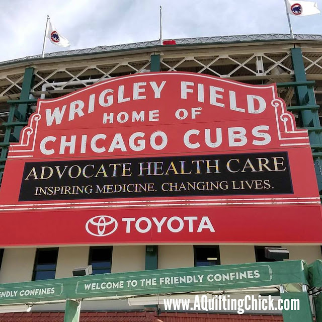 A Quilting Chick - Wrigley Field