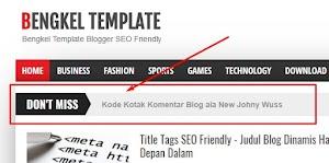 Adicionando widget news no Blogger