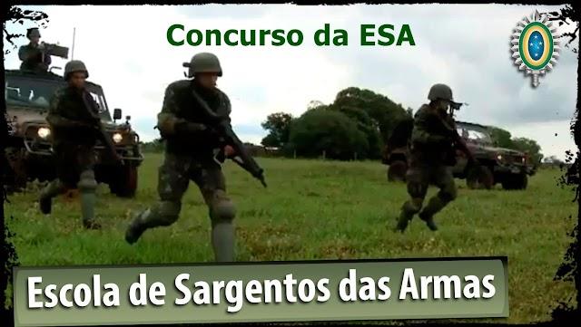 Exército abre Concurso da ESA com 1,1 mil vagas