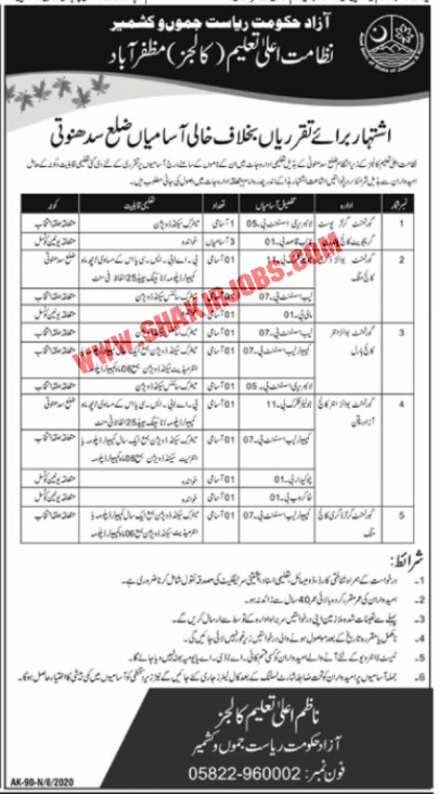 Jobs in Higher Education Colleges Jobs September 2020
