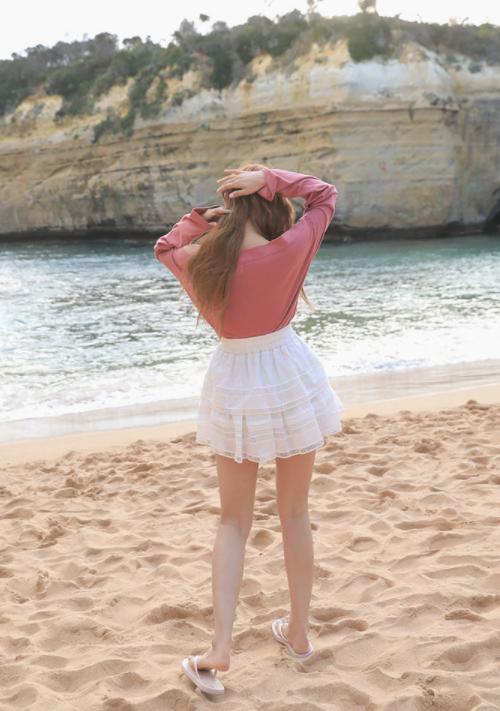 Latticed Insert Skirt