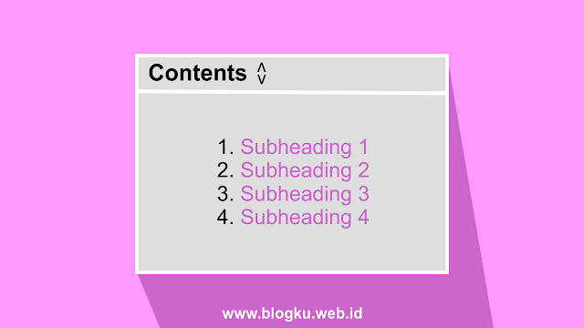 Membuat Table Of Contents (TOC) di Blogger
