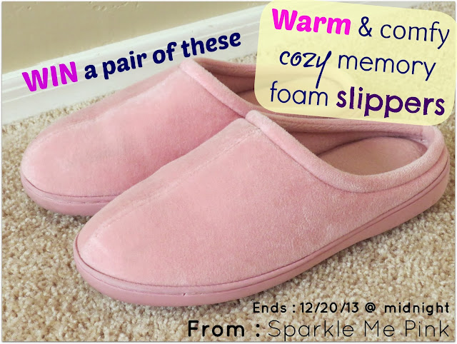 Nature's Sleep Memory Foam Slippers