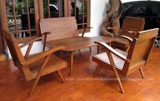 Jual Satu set Kursi Jengki Antik dari kayu Jati