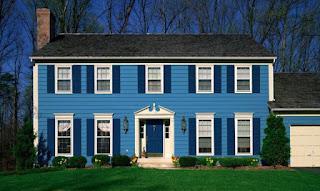 cat rumah sederhana di desa Never Ending Blue