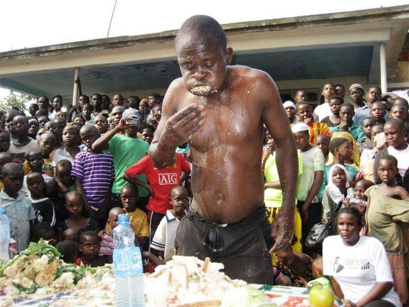 Photos: He ate all that food to win eating competiton