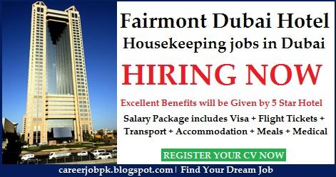 Fairmont Dubai Hotel Housekeeping jobs in Dubai