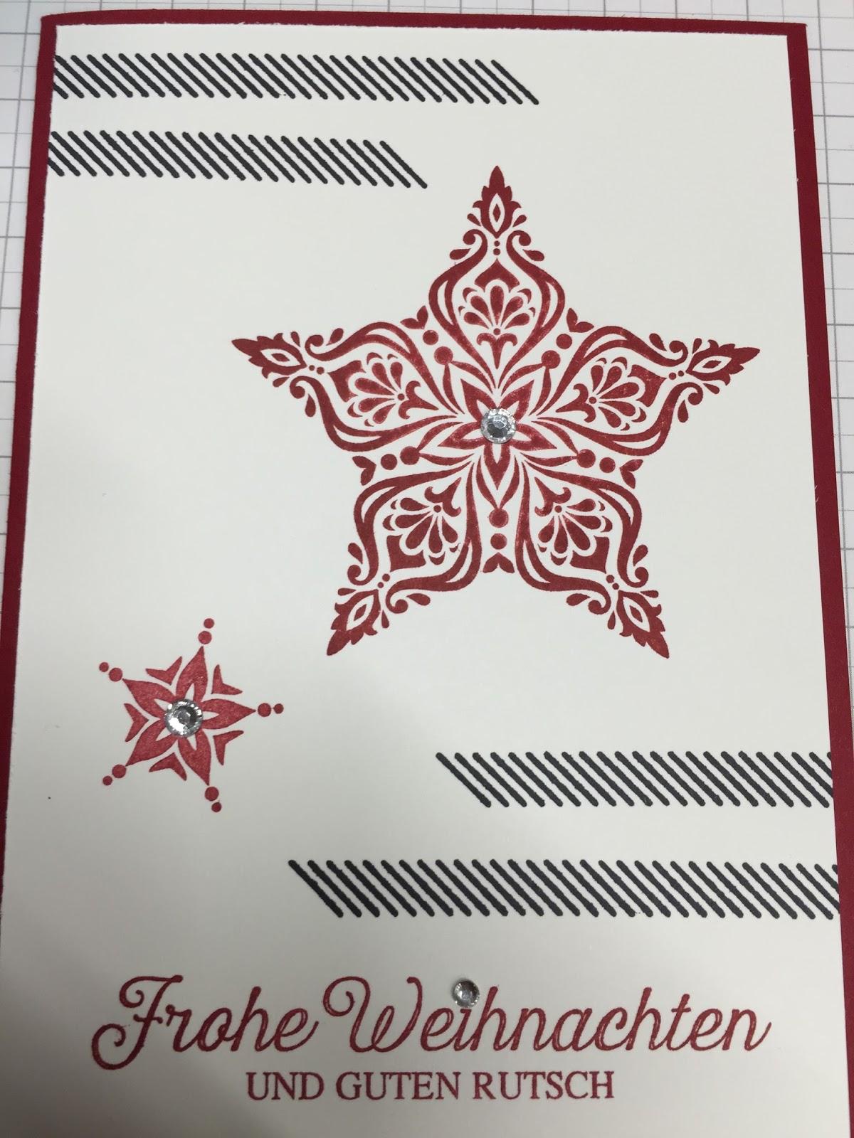 ninas stempelzauber weihnachtskarten basteln in der schule. Black Bedroom Furniture Sets. Home Design Ideas