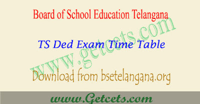 TS Ded 1st year time table 2018 pdf Telangana,ts d.ed first year exam time table 2018