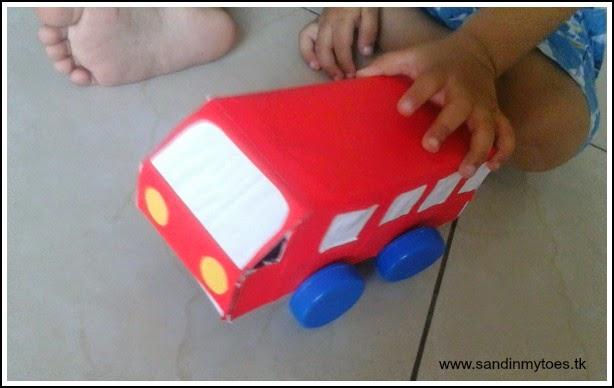 Cardboard box bus